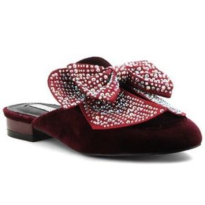 Shoes - Jeweled bow mules
